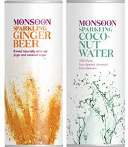 Monsoon Sparkling Ginger Beer & Coconut Water Mix (250ml x 48 Cans)
