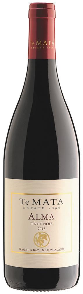 Te Mata Estate Alma Hawke's Bay Pinot Noir 2018