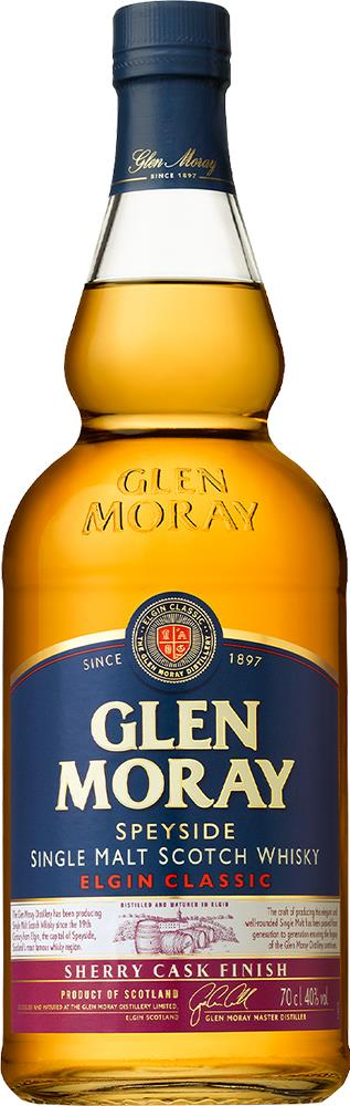 Glen Moray Classic Sherry Cask Finish Single Malt Scotch Whisky (700ml)