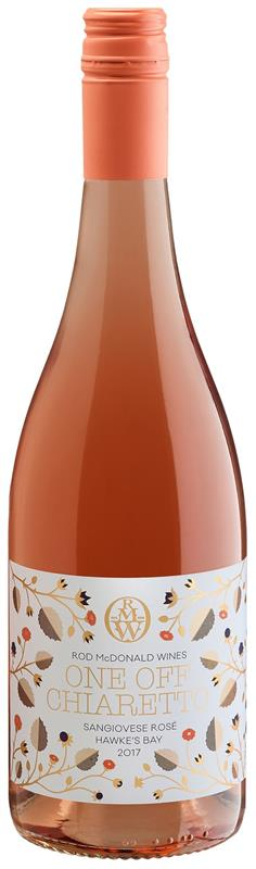 One Off Chiaretto Hawkes Bay Sangiovese Rosé 2017